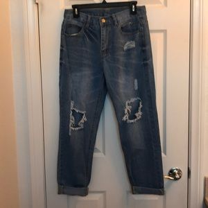 Zaful High Waisted Distressed Jeans